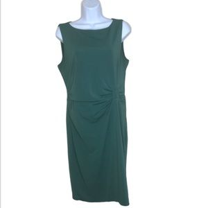 Ann Taylor Sleeveless Green Sheath Dress